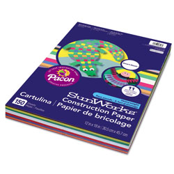 Pacon Construction Paper Smart-Stack, 58lb, 12 x 18, Assorted, 150/Pack