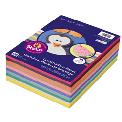 Pacon Rainbow Super Value Construction Paper Ream, 45lb, 9 x 12, Assorted, 500/Pack