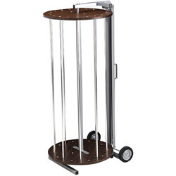 Pacon Rotary Rack for Paper Rolls, Rack with Paper Rolls