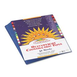 Pacon Construction Paper, 58lb, 9 x 12, Blue, 50/Pack