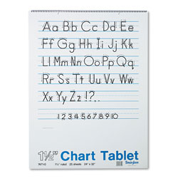 Pacon Chart Tablets, 1 1/2 in Presentation Rule, 24 x 32, 25 Sheets