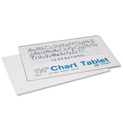 Pacon Chart Tablets, 1 1/2 in Presentation Rule, 24 x 16, 25 Sheets