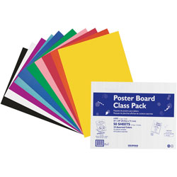 "Pacon Posterboard, 4 Ply, 22""x28"", 5 ea 10 Colors, 50 Sheets, Assorted"