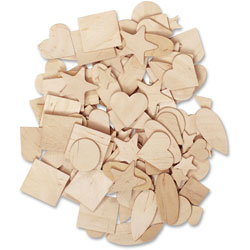 Pacon Wooden Shapes Assortment, 10/ST, Natural