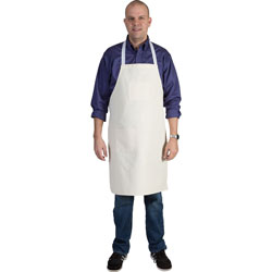 Pacon Adult Art Apron, 2-Pocket, Full-Length, 24 inWx34 inH, White