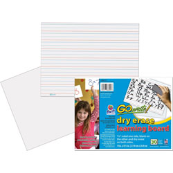 Pacon Dry Erase learning Boards, Ruled,11 inx8-1/4 in, 30/CT, White