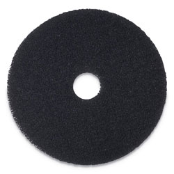 Boardwalk Stripping Floor Pads, 17 in Diameter, Black, 5/Carton