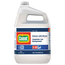 Comet Professional Liquid Cleaner with Bleach, Ready to Use, 1 Gallon Bottle, 3/Case