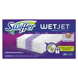 Swiffer WetJet System Refill Cloths, 14 in x 3 in, White, 24 Per Box