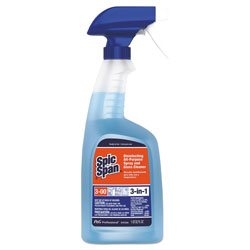 Spic and Span Professional Disinfecting All Purpose Spray & Glass Cleaner, 32 oz. Spray Bottle, 8/Case