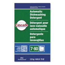Cascade Professional Automatic Dishwasher Powder, Fresh Scent, 75 oz. Box