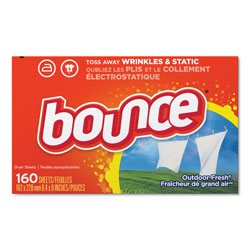 Bounce Dryer Sheets, Outdoor Fresh Scent, 160 Per Box, 6/Case, 960 Sheets Total