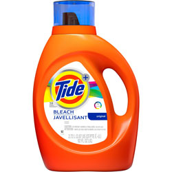 Tide Plus Bleach Liquid Laundry Det, 2.72L, 4/BT, OE