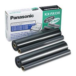 Panasonic KX-FA136 Film Roll Refill, 710 Page-Yield, Black, 2/Box