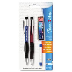 Papermate® ComfortMate Ultra Pencil Starter Set, 0.7 mm, HB (#2.5), Black Lead, Assorted Barrel Colors, 2/Pack