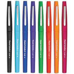 Papermate® Point Guard Flair Stick Porous Point Pen, Bold 1.4mm, Assorted Ink/Barrel, 48/Set