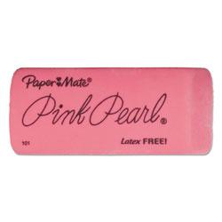 Papermate® Pink Pearl Eraser, Rectangular, Large, Elastomer, 3/Pack