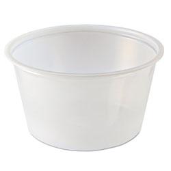 Fabri-Kal Portion Cups, 4oz, Clear, 125/Sleeve, 20 Sleeves/Carton