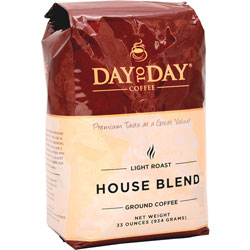 PapaNicholas House Blend Coffee, 33oz., Light Roast, Burgundy/Gold
