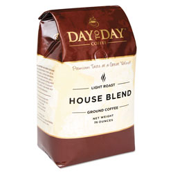 Day to Day Coffee 100% Pure Coffee, House Blend, Ground, 28 oz Bag, 3/Pack