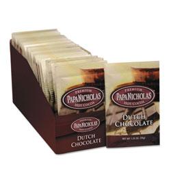 PapaNicholas Premium Hot Cocoa, Dutch Chocolate, 24/Carton