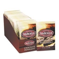 PapaNicholas Premium Hot Cocoa, Chocolate Peppermint, 24/Carton