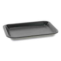 Pactiv Supermarket Trays, #2, 1-Compartment, 8.2 x 5.7 x 0.91, Black, 500/Carton