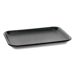 Pactiv Supermarket Tray, #2S, 1-Compartment, 8.2 x 5.7 x 0.65, Black, 500/Carton