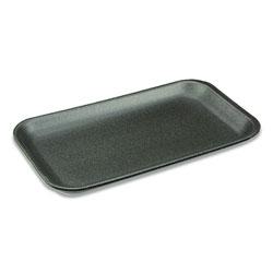 Pactiv Meat Tray, #17S, 8.3 x 4.8 x 0.65, Black, 1,000/Carton