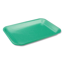 Pactiv Supermarket Tray, #2 1-Compartment, Produce Tray, 8.2 x 5.7 x 0.91, Green, 500/Carton
