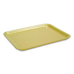 Pactiv Supermarket Trays, #2, 1-Compartment, 8.38 x 5.88 x 1.21, Yellow, 500/Carton