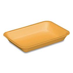 Pactiv Supermarket Trays, #4D, 1-Compartment, 8.63 x 6.56 x 1.27, Yellow, 400/Carton