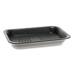 Pactiv Supermarket Trays, #2, 5.88 x 8.38 x 1.21, Black, 500/Carton