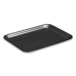 Pactiv Supermarket Trays, #4S, 1-Compartment, 9.25 x 7.25 x 0.69, Black, 500/Carton