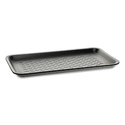Pactiv Supermarket Trays, #10S, 1-Compartment, 10.88 x 5.88 x 0.69, Black, 500/Carton