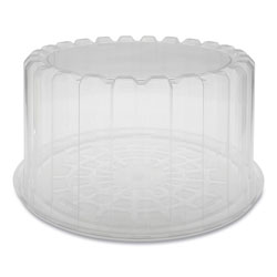 Pactiv Round ShowCake 2-Part Cake Container, Deep 8 in Cake Container, 9.25 in Diameter x 5 inh, Clear, 100/Carton