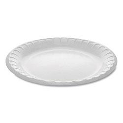 Pactiv Laminated Foam Dinnerware, Plate, 8.88 in Diameter, White, 500/Carton