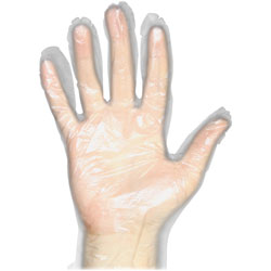 Protected Chef Disposable Gloves, Polyethylene, Large, 10BX/CT, Clear