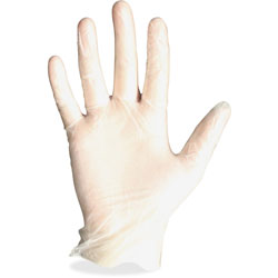 Protected Chef Disposable Gloves, Vinyl, Powder Free, Large, 100/BX, Clear