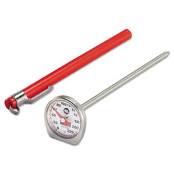 Rubbermaid Dishwasher-Safe Industrial-Grade Analog Pocket Thermometer, 0°F to 220°F