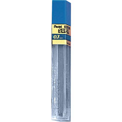 Pentel Hi Polymer Lead, 0.7 Millimeter, 2H, Medium, Black