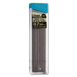 Pentel Super Hi-Polymer Lead Refills, 0.7 mm, HB, Black, 30/Tube