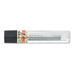 Pentel Super Hi-Polymer Lead Refills, 0.5 mm, HB, Black, 12/Tube