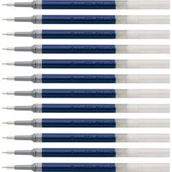 Pentel Gel Pen Refills for EnerGel, 0.5mm, Needle Tip, 12/BX, Blue Ink