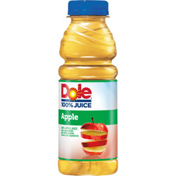 Ocean Spray Apple Juice, Plastic, 15.2oz., 12/CT, Gold