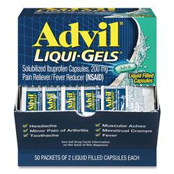 Advil® Liqui-Gels, Two-Pack, 50 Packs/Box