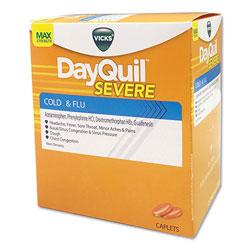 Lil Drugstore Cold & Flu Caplets, Daytime, Severe Cold & Flu, 25 Packs/Box