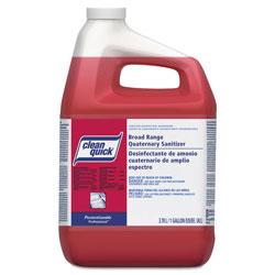 Clean Quick Professional Liquid Quaternary Broad Range Sanitizer, Concentrate, 1 Gallon Bottle, 3/Case