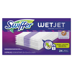 Swiffer WetJet System Refill Cloths, 14 in x 3 in, White, 24 Per Box, 4/Case, 96 Refills Total