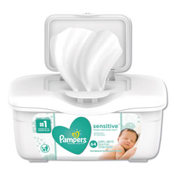 Pampers® Sensitive Wipes Tub, Unscented, 64 Sheets